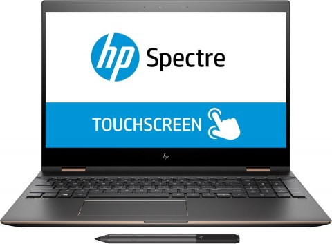 2w1 HP Spectre 15 x360 UltraHD 4K IPS Intel Core i7-8550U 8GB 256GB SSD NVMe NVIDIA GeForce MX150 2GB Active Pen Windows 10