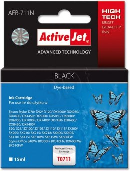 Activejet tusz AEB-711N / T0711 (black)