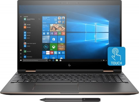 2w1 HP Spectre 15 x360 UltraHD 4K IPS Intel Core i7-8705G 16GB DDR4 512GB SSD NVMe AMD Radeon RX Vega M GL 870 Active Pen Win10