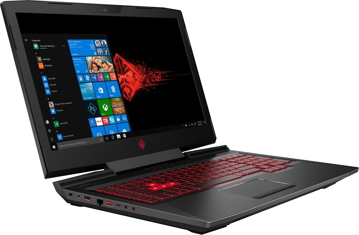HP OMEN 17 FullHD IPS 120Hz Intel Core i7-7700HQ QUAD 16GB 512GB SSD NVMe +1TB HDD NVIDIA GeForce GTX 1060 6GB Windows 10