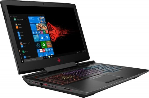 HP OMEN 17 FullHD IPS 120Hz Intel Core i7-8750H 6-rdzeni 16GB 512GB SSD NVMe +1TB HDD NVIDIA GeForce GTX 1060 6GB Windows 10