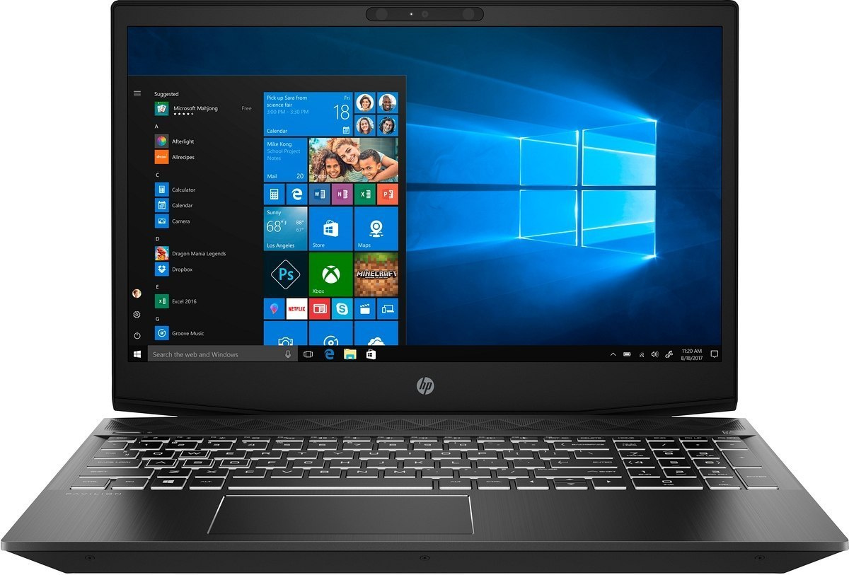 HP Pavilion Gaming 15 FullHD IPS Intel Core i7-8750H 6-rdzeni 16GB 256GB SSD NVMe 1TB HDD NVIDIA GeForce GTX 1050 4GB Windows 10