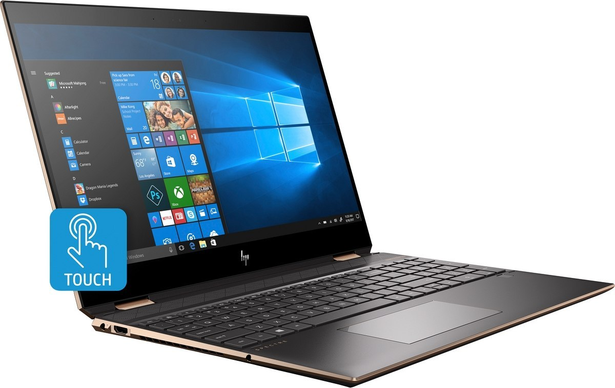 2w1 HP Spectre 15 x360 UltraHD 4K IPS Intel Core i7-9750H 16GB DDR4 512GB SSD NVMe +Optane NVIDIA GeForce GTX 1650 4GB Win10