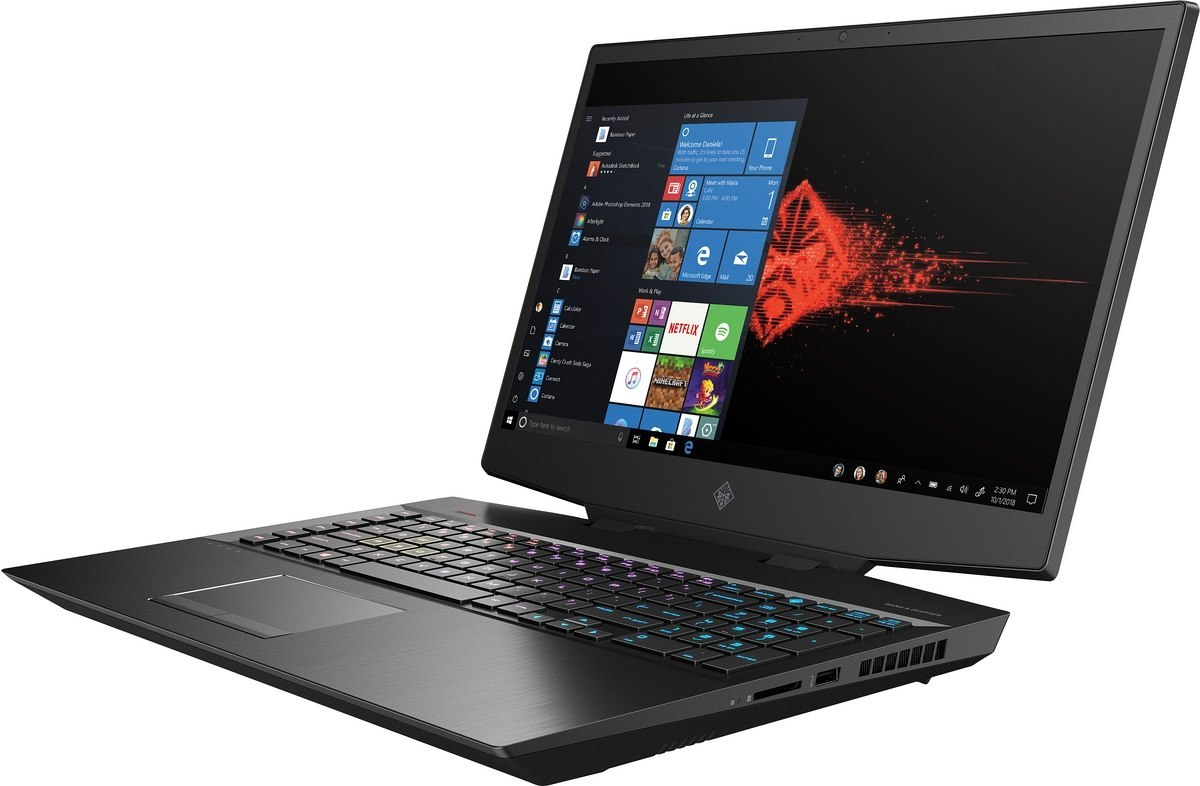 HP OMEN 17 FullHD IPS 144Hz Intel Core i7-9750H 16GB DDR4 512GB SSD NVMe 1TB HDD NVIDIA GeForce RTX 2070 8GB Windows 10 OUTLET