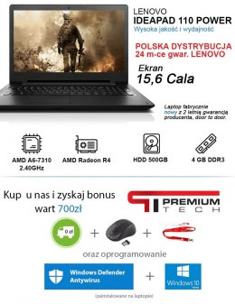Laptop LENOVO 4 Rdzenie 2,4GHz RADEON 4GB Windows 10 + MYSZ