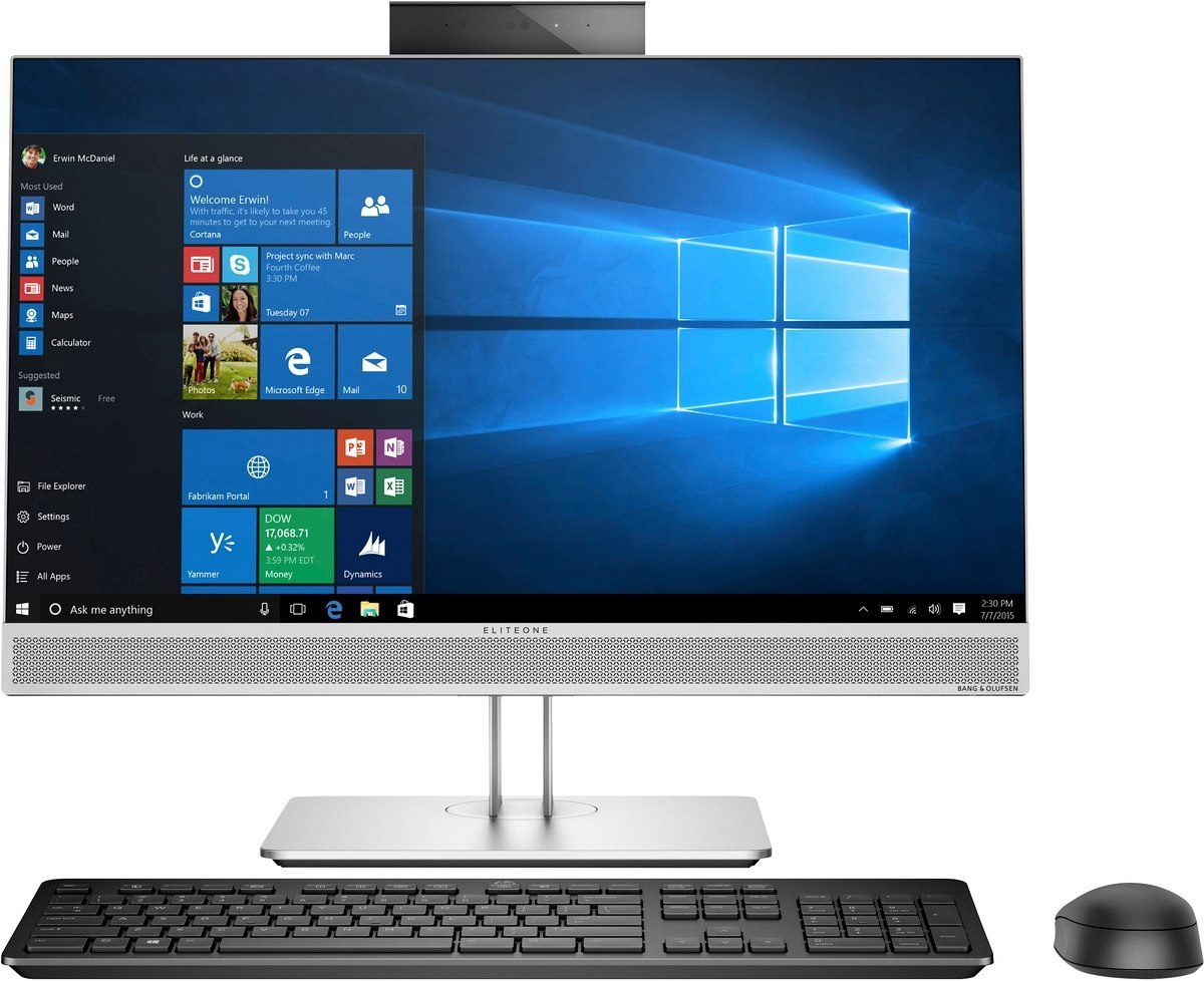 AiO HP EliteOne 800 G5 24 FullHD IPS Intel Core i7-9700 8-rdzeni 8GB DDR4 512GB SSD NVMe Windows 10 Pro +klawiatura i mysz